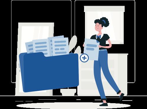 share files illustration